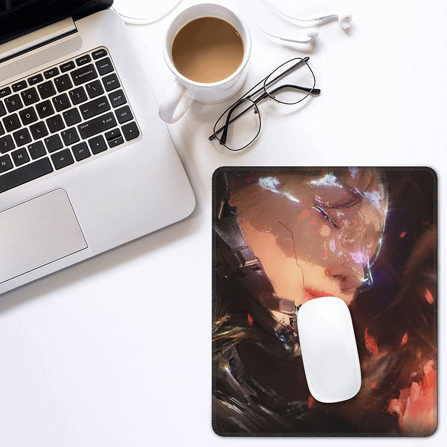 Loarpome Mouse Pad Gaming Directly managed store Regular dealer Mousepad with Edges Non-S Stitched and