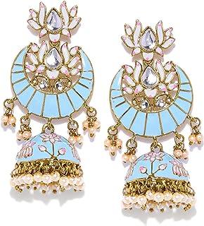 Zaveri Pearls Classic Enamelled Jhumki Earring For Women-ZPFK8785