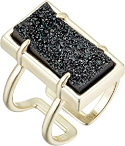 Black Drusy/Gold Tone