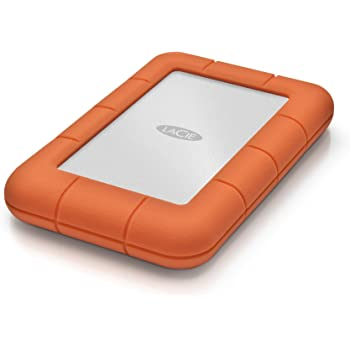LaCie LAC9000298 Rugged Mini 2TB External Hard Drive Portable HDD - USB 3.0 USB 2.0 Compatible, Drop Shock Dust Rain Resistant Shuttle Drive, For Mac And PC Computer Desktop Workstation PC Laptop