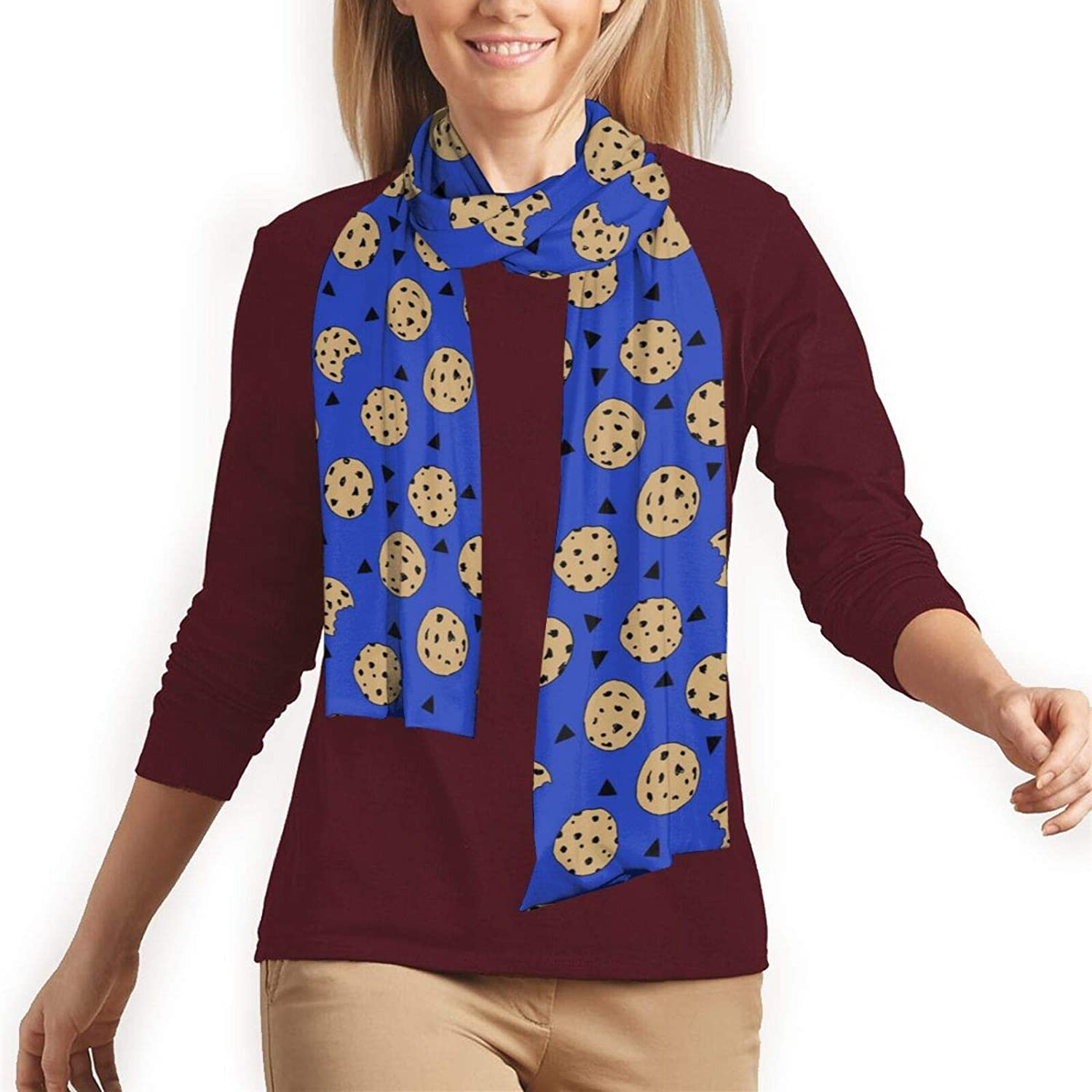cookies chocolate chip cookie monster Scarf for Men and Women Warm Soft Luxurious Classic Long Scarves for Fall Winter