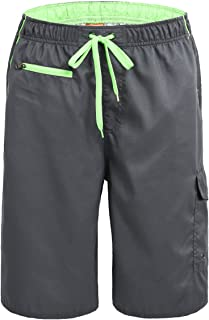 Nonwe Men's Beachwear Swim Trunks Quick Dry Zipper Pockets Lining