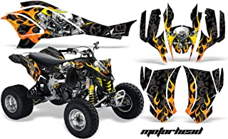 AMR Racing Graphics Can-Am DS-450 2008-2016 ATV Vinyl Wrap Kit - Motorhead Black