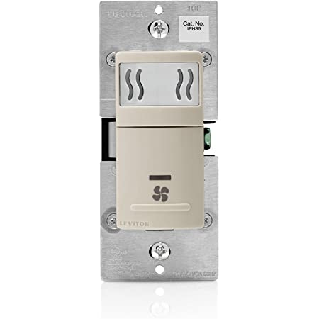 3A 10-Pack Single Pole Leviton IPHS5-1LT Decora In-Wall Humidity Sensor /& Fan Control Light Almond