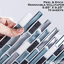STIQUICK TILES Peel and Stick Tile backsplash - 10 Sheets Premium Block Style 3D Wall for Kitchen and Bathroom in Como Bay