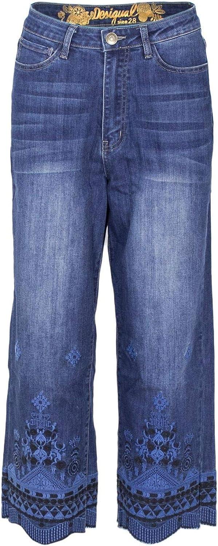Desigual Women's 18WWDD50blueE bluee Cotton Jeans