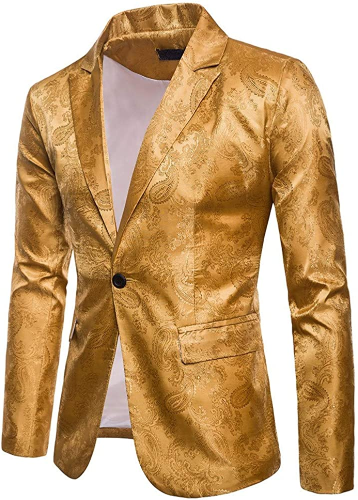 MODOQO Men's Dress Suit Stylish Wedding Party Dinner Jacket Blazer Prom Tuxedo