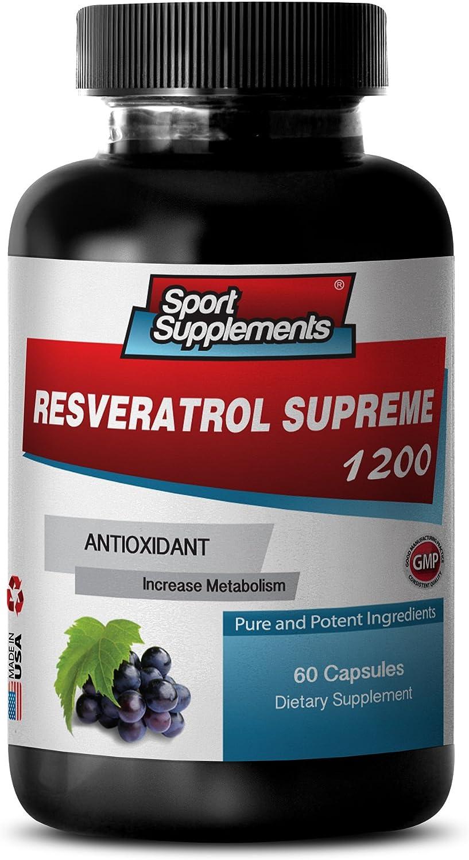 Brain Booster Supplements favorite - RESVERATROL 1200mg Resvera Supreme Product