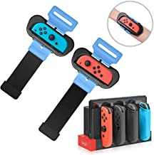 Wrist Bands for Just Dance 2020 2019 for Nintendo Switch and Charger for Nintendo Switch Joy-con