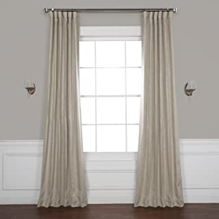 HPD HALF PRICE DRAPES BOCH-LN1857-84 Faux Linen Blackout Room Darkening Curtains, 50 X 84, Oatmeal