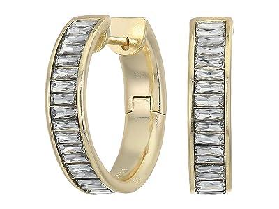 Kendra Scott Jack Hoop Earrings (Gold Clear Crystal) Earring