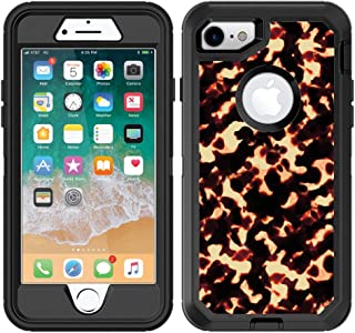 Teleskins Protective Designer Vinyl Skin Decals/Stickers for Otterbox Defender iPhone 8 & iPhone 7 Case - Tortoise Shell Design Pattern - Only Skins and Not Case
