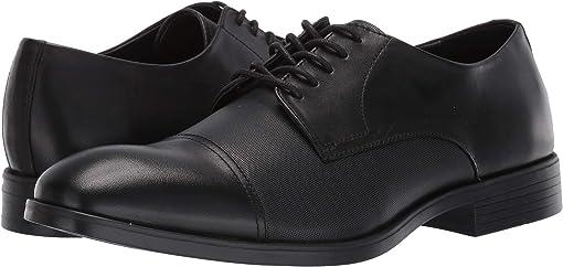 Black Dress Calf/Small Grid Emboss