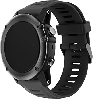 Compatible Garmin Fenix 3 バンド - JUNBOER Garmin Fenix 3 / Fenix 3 HR/Fenix 5X用ソフト 高級 シリコーン製腕時計ストラップ/バンド交換ベルト-合わない Fenix 5