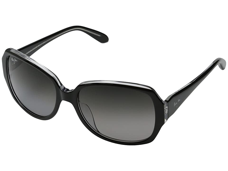 Maui Jim Kalena (Black w/ Crystal/Neutral Grey) Fashion Sunglasses