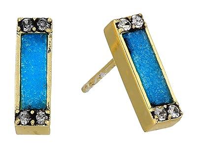 SOLE / SOCIETY Bar Stud Earrings (Gold) Earring
