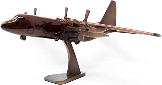 C-130 Hercules Replica Airplane Model Hand Crafted with Real Mahogany Wood