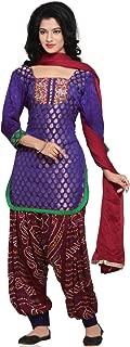 Utsav Fashion Women's Chanderi Silk Jasmine Pant With Kameez