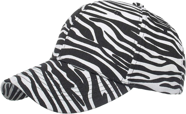Unisex Zebra Striped Hip Hop Baseball Cap Men Women Animal Print Sun Hat Adjustable Baseball Snapback Caps Hat