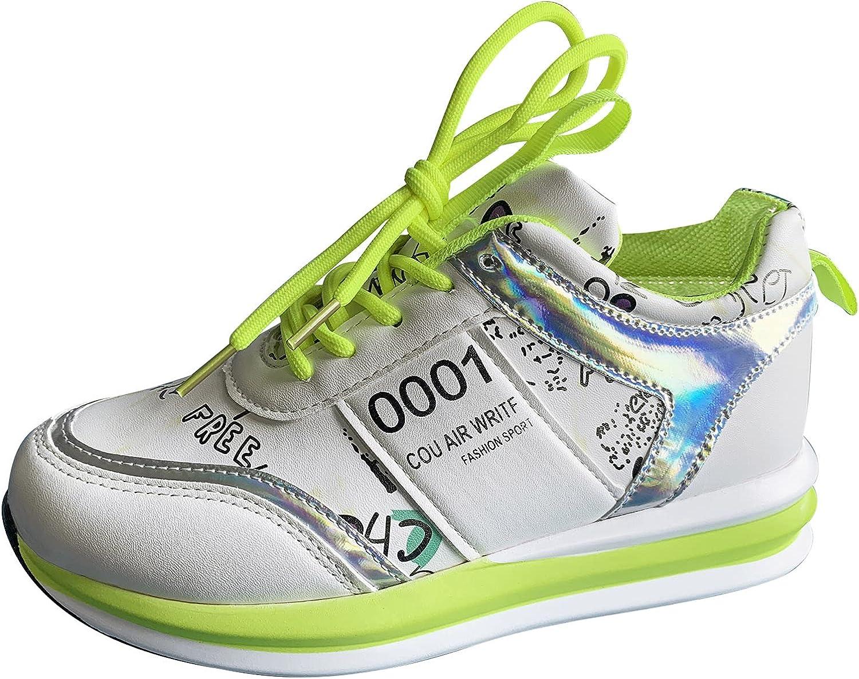 ZiSUGP Women's Lace-up Low Top Casual Sneakers Tennis Shoes Casual Walking Shoes