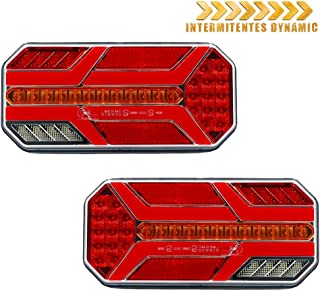 2 luces de posici/ón laterales LED E4 12 V LED para camiones y remolques.