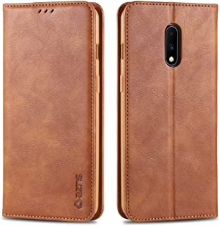For OnePlus 7 Retro Texture Magnetic Horizontal Flip PU Leather Case with Holder & Card Slots & Photo Frame New (Black) Hopezs (Color : Yellow)