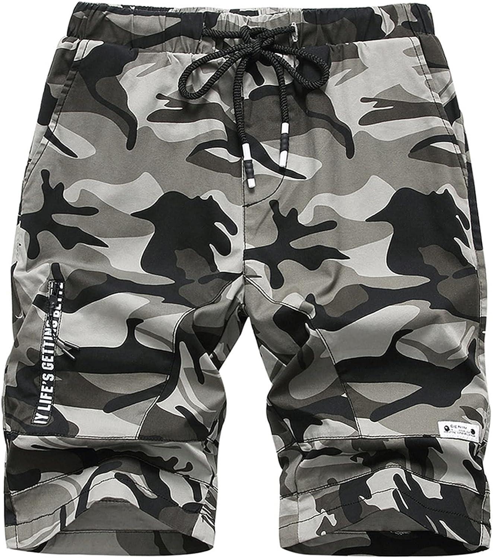 LOKTARC Boys Pull On Camo Shorts Kids Bermuda Summer Knee Length Pants