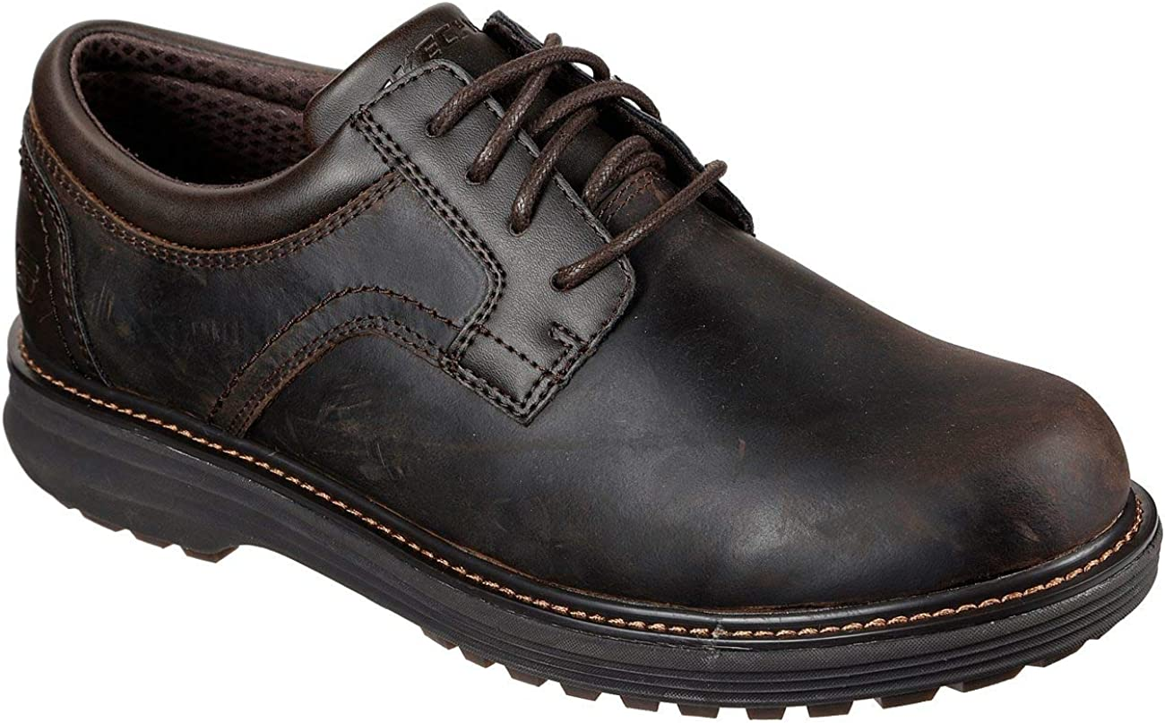 Skechers mens Round Toe Lace Up