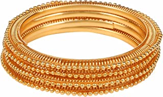 Indian Bollywood Traditional Ethnic Gold Plated Bracelets Bangle Set (4 Pieces) Wedding Jewelry For Women