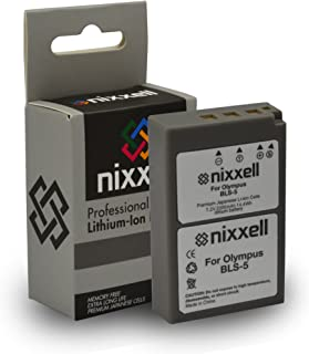 SNS-Nixxell Battery for Olympus BLS-1BLS-5, BCS-5, PS-BLS5, PS-BCS5, OM-D, E-M10, PEN E-PL1, E-PL2, E-PL3, E-PL5, E-PL7,E-P3,E-PM1, E-PM2, Stylus 1 Digital Camera (Fully Decoded)