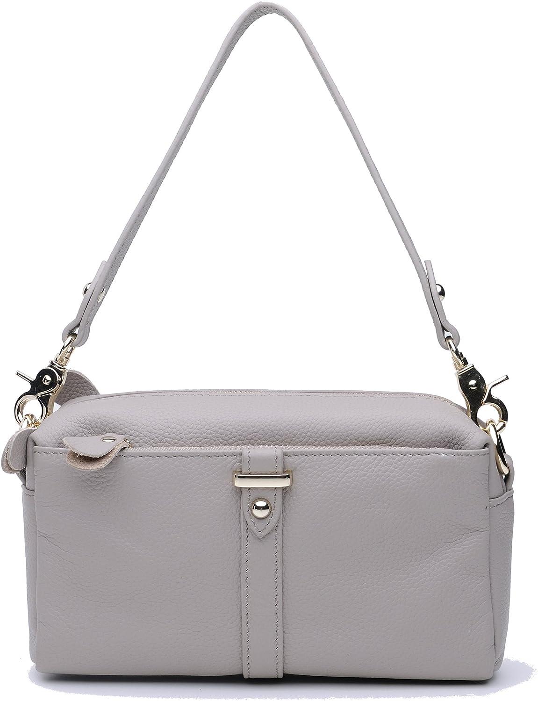 Castopber Women's Fashion Cowhide Genuine Leather Crossbody Shoulder Bag