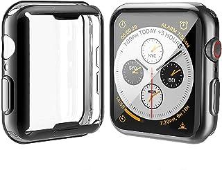 Misxi 【2枚セット】 Apple Watch Series 6 SE/Series 5 / Series 4 44mm ケース, メッキ 柔らかい TPU 保護カバー アップルウォッチシリーズ 6/SE/5/4 44mm ケース (1 ブ...