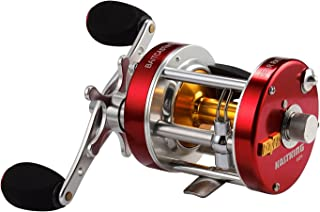 KastKing Rover Round Baitcasting Reel, Perfect Conventional Reel for Catfish, Salmon/Steelhead, Striper Bass and Inshore Saltwater Fishing - No.1 Highest Rated Conventional Reel, Reinforced Metal Body