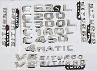 4MATIC Un-Branded 3D Chrome Letters Number Trunk Rear Badge Emblem Emblems Badges for Mercedes Benz W212 W211 W213 E200 E220 E250 E350 CDI 4MATIC