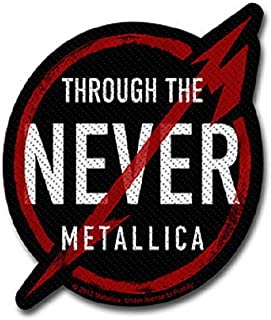 Metallica Patch Through The Never Band Logo Ufficiale Nuovo Nero Cut Out 10 Cm Size One Size