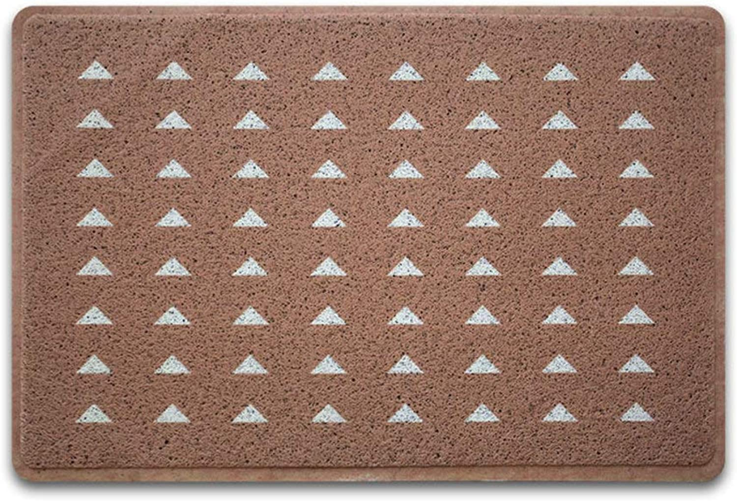 Carpet,Entrance Doormat Geometric Patterned Non Skid Backing Easy to Clean-BrownC 60x90cm(24x35inch)