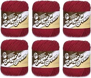 Lily Sugarn Cream Yarn Bulk Buyolids (6-Pack) Wine 102001-15
