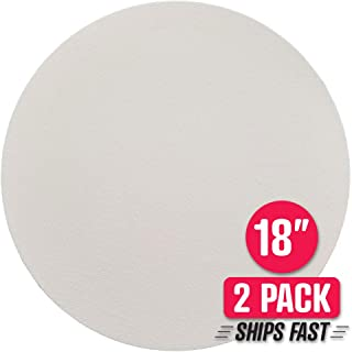 """Kindling Kreative Brand 18"""" 2 Pack Round Blank Canvas for Painting – Triple Coated Titanium White Gesso and Pre-Stretched on Rigid Frame, Ready for Acrylic Paint (18"""" Diameter) Ships in 24 HRS!"""