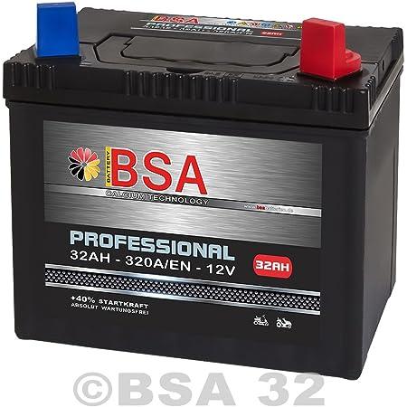 Rasentraktor Aufsitzmäher Batterie 32ah 12v Starterbatterie Absolut Wartungsfrei Pluspol Rechts 30ah Auto