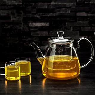 Teapots Tea Set Brew Tea Kettle Household Filter Liner Tea Set Tea Set 750ml (teapot +2 4 Cup) Tea pot (Color : A)