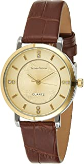 Trend Design Women's Gold Dail Leather Band Watch - 123L-7