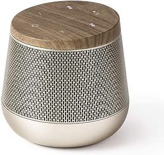 Lexon Miami Sound - Bluetooth Speaker, 5W, Bluetooth 4.0 + EDR, Hands Free Microphone, Touch Sensor Controls - Autonomy 7 Hours - Soft Gold/Wood