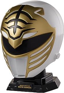 Power Rangers 40221 Legacy Mighty Morphin White Ranger Helmet Display Set 4.5 x 3.2 x 5 inches