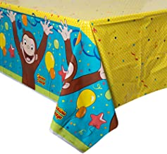 Unique Curious George Birthday Party Plastic Table Cover, 54