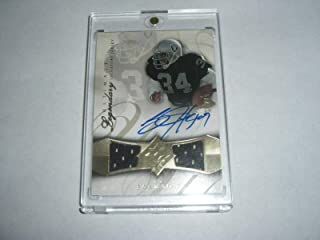 Bo Jackson 08 Ud Ultimate Legendary Game Used Dual Jersey Auto 15/15 Signed Card - Football Game Used Cards