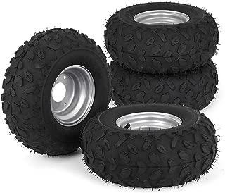 Bestauto ATV Go Kart Tires and Rims 145x70-6 Inch Golf Cart Tires 90CC Go Kart Buggy ATV Quad Bike Set of Four