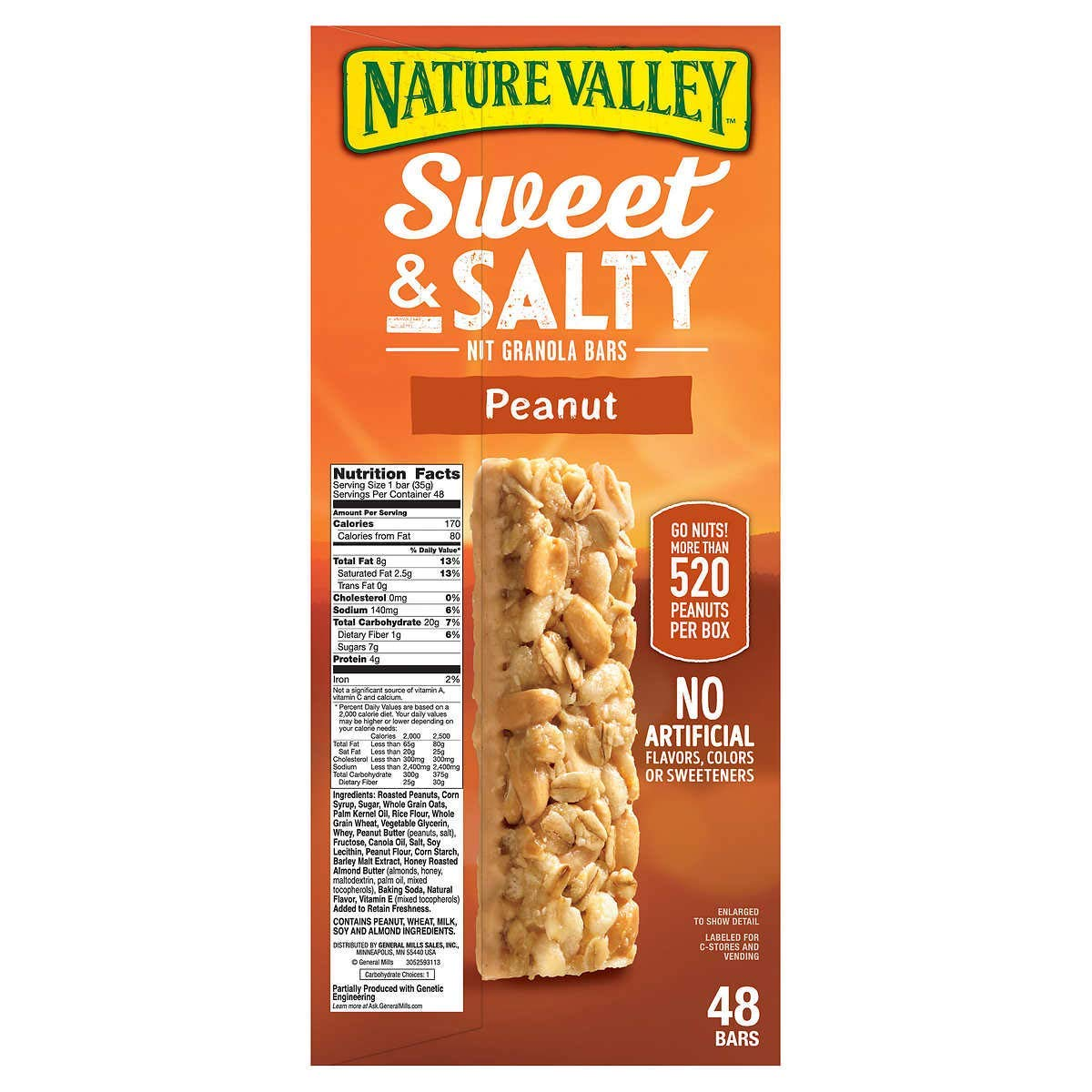Nature S Valley Sweet And Salty Granola Bars Peanut Dipped In Peanut Butter Coating 36 Count Pack Of 1 Amazon Com Grocery Gourmet Food