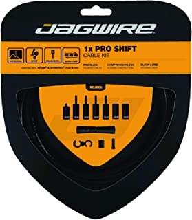 Jagwire - Universal 1x Pro Shift Kit |for Road, MTN, and Gravel Bike | SRAM and Shimano Shifter Compatible, Polished Stainless Cables, 10 Color Options