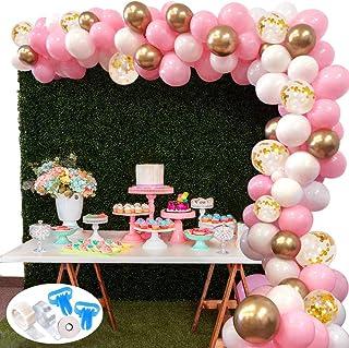 comprar comparacion 127Pcs Kit de guirnaldas con globos SPECOOL Kit de arcos de globos Rosa blanca y dorada Confeti Lleno de globos de látex P...