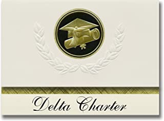 Signature Announcements Delta Charter (Aptos, CA) Graduation Announcements, Presidential style, Basic package of 25 Cap & ...